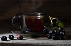 чай с ежевикой