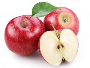красные яблоки в разрезе