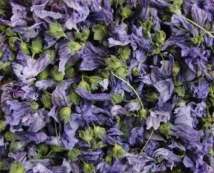 сушеные цветки мальвы лесной