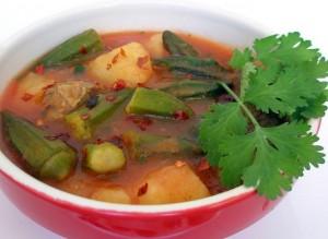 суп из бамии