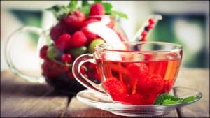 чай от простуды с малиной