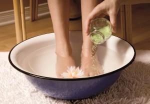 Ванночка для ног из семени льна