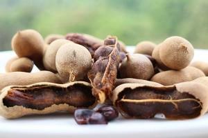 Плоды тамаринда крупный план
