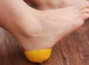 Компресс для пяток из лимонных корок
