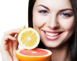 Лимон и грейпфрут красивая кожа